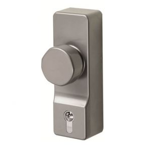 Exidor FD302 Outside Access Device - Knob Handle with Euro Cylinder - For Timber or Metal Doors