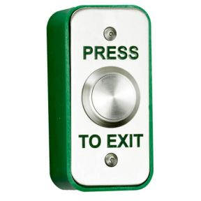 TSS Stainless Steel Narrow Exit Button Surface or Flush mounted