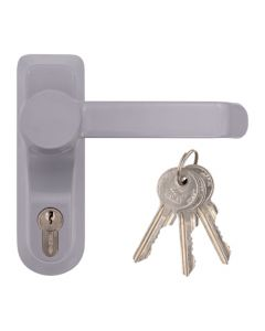 Briton 1413E Outside Access Device - Lever Handle with Euro Cylinder - For Timber or Metal Doors