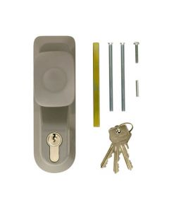 Briton 1413E Outside Access Device - Knob Handle with Euro Cylinder - For Timber or Metal Doors