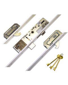 Era Vectis Latch Deadbolt 2 Hooks Flat 44mm White Faceplate Split Spindle