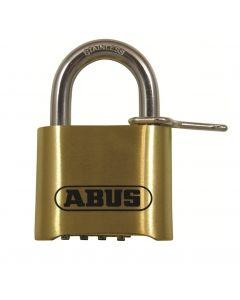 Abus 180IB 50mm Open Shackle Combination Brass Padlock