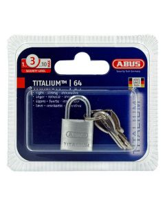 Abus 64TI Titalium 20mm Open Shackle Padlock