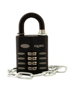 Squire CP50 50mm Open Shackle Combination Padlock with Chain