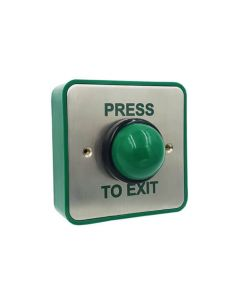 TSS Press To Exit Collared Dome Button SS