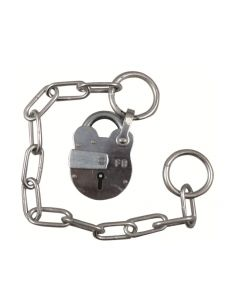 Fire Brigade FB1 Open Shackle Galvanised Padlock with Chain