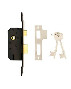 """Willenhall M5 Non British Standard 5 Lever 2"""" Cranked 25mm Extended Forend Mortice Sashlock"""