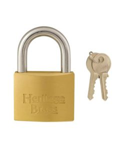 Heritage 50mm Open Shackle Brass Padlock Keyed Alike