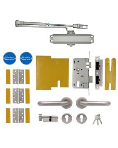 Union Fire Door Kit for use on FD30 or FD60 rated timber fire doors