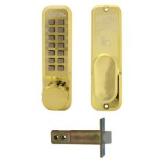 Lockey 2435 Digi tubular mortice lock HBK PB