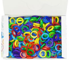 Keytop Rings Assorted Colours (200)