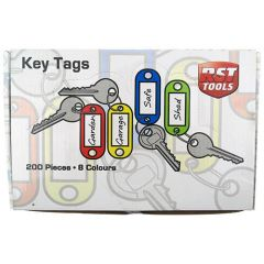 Key Tags with Split Ring Assorted Colours (200)