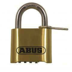 Abus 180IB 50mm Open Shackle Combination Brass Padlock