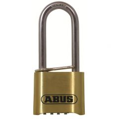 Abus 180IB 50mm Long Shackle Combination Brass Padlock