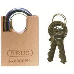 Abus 65 Series 50mm Close Shackle Brass Padlock