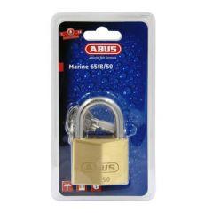 Abus 65IB Series Marine Grade 50mm Open Shackle Brass Padlock