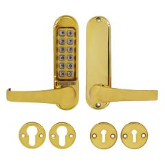 Codelock CL500 Digital Lock, Plates Only Polished Brass