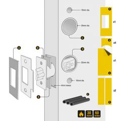 Codelock Smart Lock Intumescent Kit