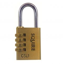 Squire CSL1 40mm Open Shackle Combination Brass Padlock
