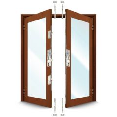 ERA 7145 French Door Kit for a pair of plain meeting style timber and composite doors