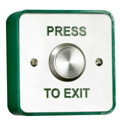 TSS Stainless Steel Standard Exit Button Surface or Flush Mounted
