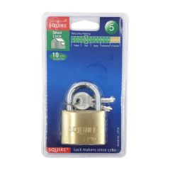 Squire LP10 50mm Open Shackle Brass Padlock