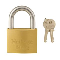 Heritage 50mm Open Shackle Brass Padlock Keyed Alike