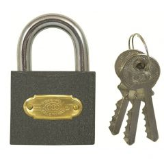 Tri Circle 50mm Iron Padlock - Open Shackle
