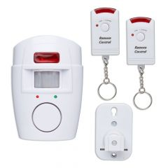 Sure Portable PIR Alarm c/w 2 IR Fobs - Ideal for Sheds, Garages and Outbuildings
