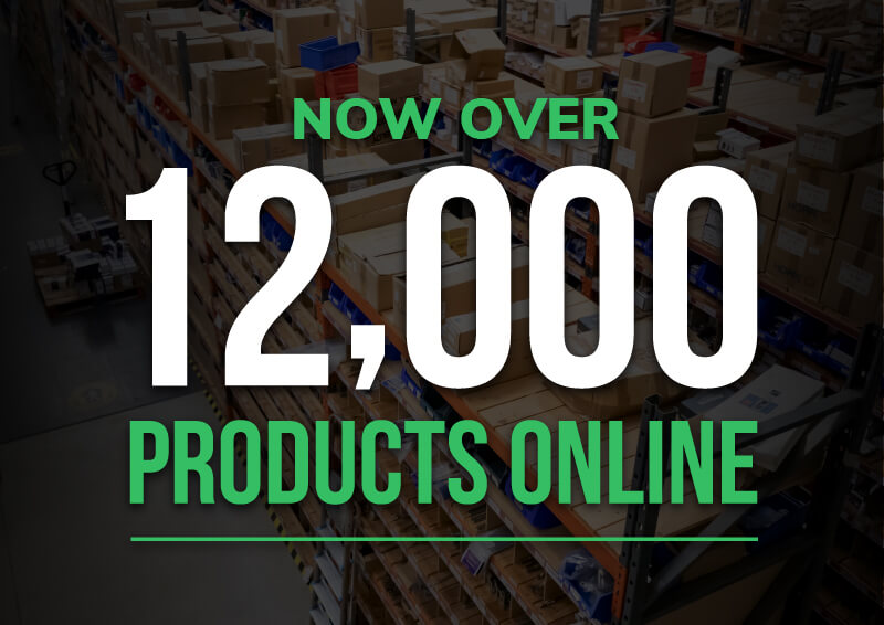 Now with over 12,000 products available online