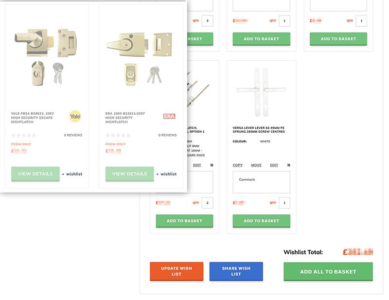 Creating Product Wishlists